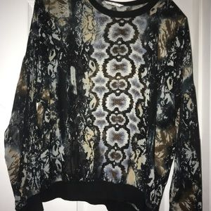 Cabi animal print blouse